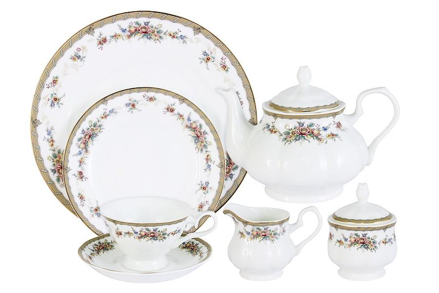Чайный сервиз 40 предметов на 12 персон Изабелла (Emerald)