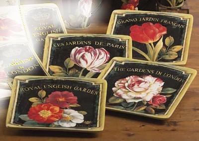 Набор 4-х тарелок десертных 21,5 см «Цветущий сад» (Certified International)