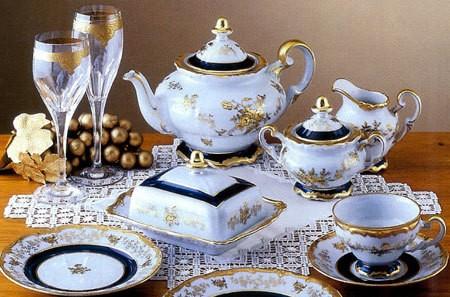 Чайный сервиз на 12 персон 55 предметов (Weimar Porzellan)