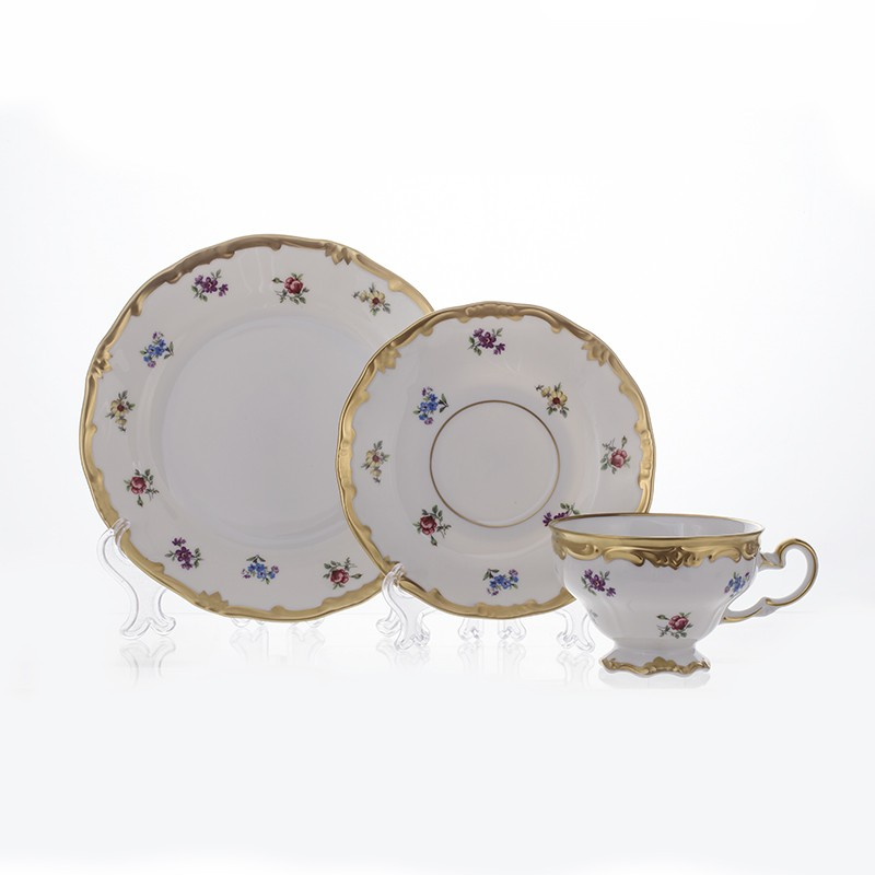 Набор чайный 6 перс. 18 пред. подарочный «Мейсенский цветок» (Weimar Porzellan)