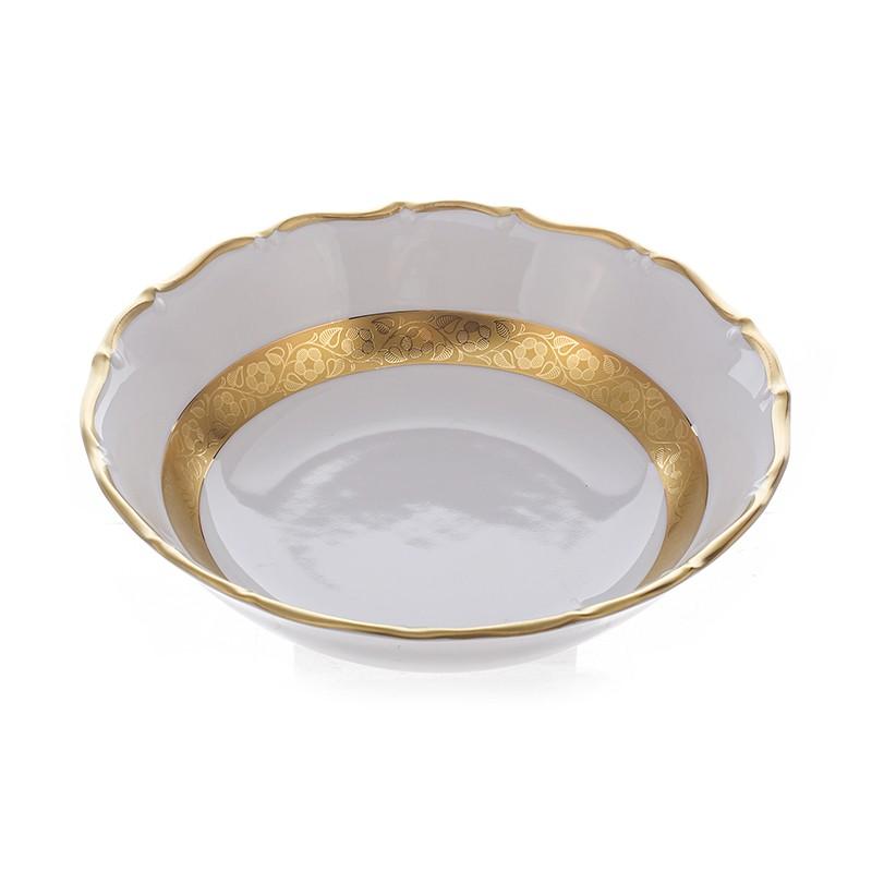 Набор салатников «Лента золотая матовая 2» 19 см. 6 шт. (Bavarian Porcelain)