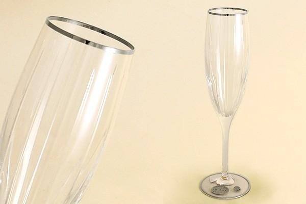 6 бокалов для шампанcкого «Пиза серебро» (Same)