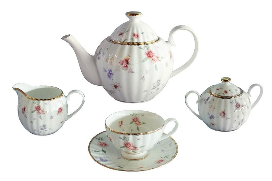 Чайный сервиз из 15 предметов на 6 персон Флёр (Colombo)