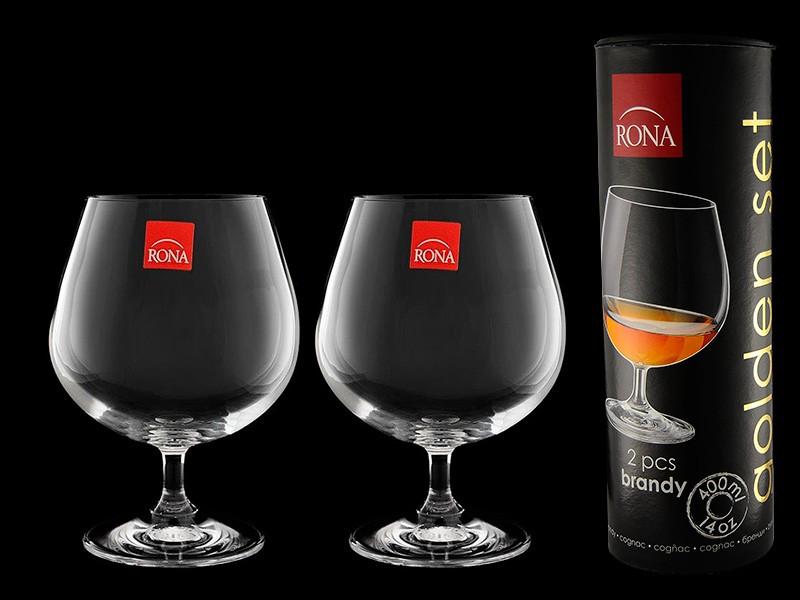 Набор бокалов (2 шт) для бренди «Golden set» (Rona)
