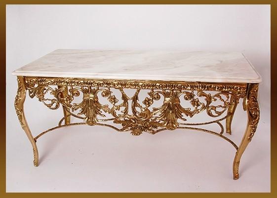 Стол «Наполеон» прямоугольный золотистый 52х120х62 см. (Virtus 1945)
