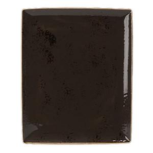 Блюдо прямоуг. «Крафт», фарфор, H=15,L=330,B=270мм, серый (Steelite)