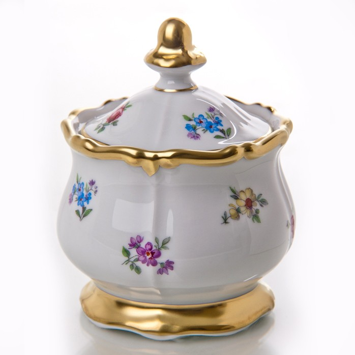Мармеладница 0,25 л. «Мейсенский цветок» (Weimar Porzellan)