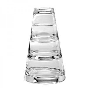 Набор салатников 370/220/120мл 3шт. +крышка(100мл), стекло, прозр. (Durobor)