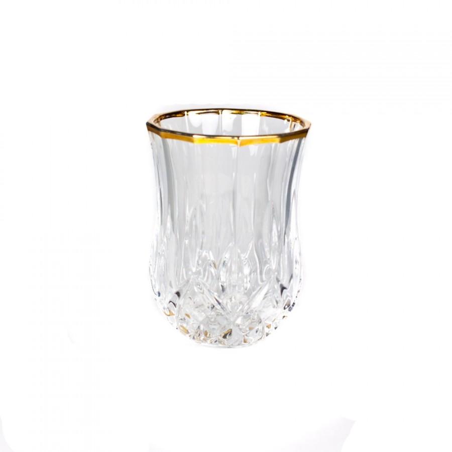 Набор стопок 6 шт. для водки 60 мл. «Опера» с золотом (RCR)