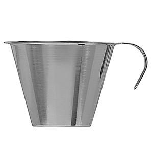 Мерный стакан; сталь нерж.; 250мл; D=100/122,H=73мм; металлич. (Lind)