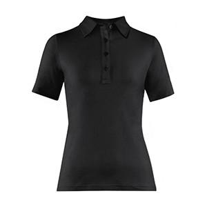 Рубашка поло женская,размер XS, хлопок,эластан, черный (Greiff)