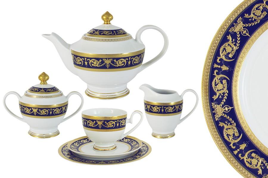 Чайный сервиз Императорский (кобальт) 23 предмета на 6 персон (Midori)