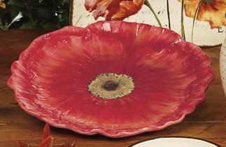 Блюдо круглое 30 см. в виде цветка «Парижские маки» (Certified International)
