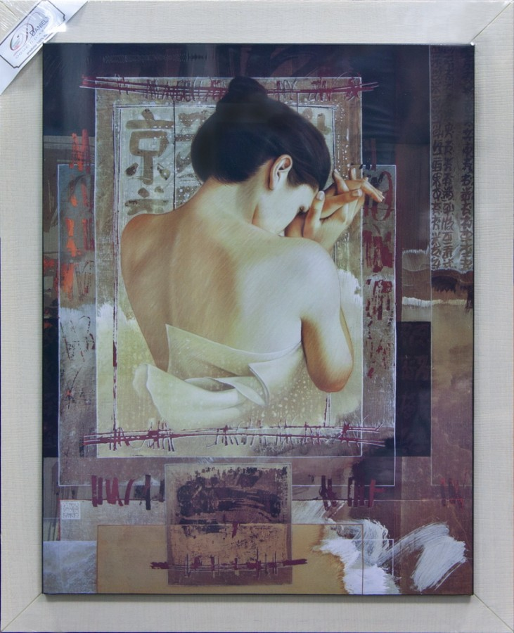Картина 60х110см «Забвение» Японский мотив (Alessandro Zucconi)