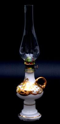 Лампа керосиновая «Лепка белая» (Bohemia)