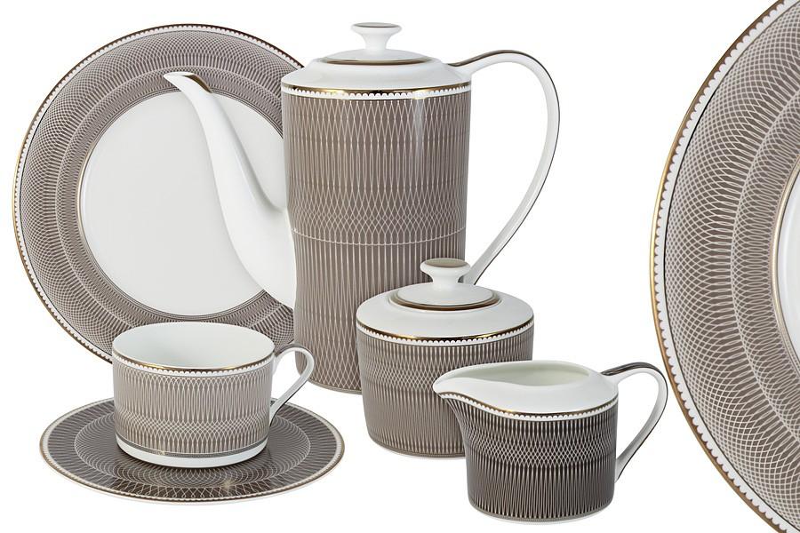 Чайный сервиз Мокко 21 предметов на 6 персон (Naomi)