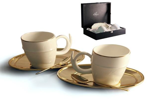 Чайный набор на 2 персоны «Ричоло» (золото) (Гамма)