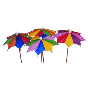 Зонтик на корот. ножке 100шт.фигур. (Melchert)