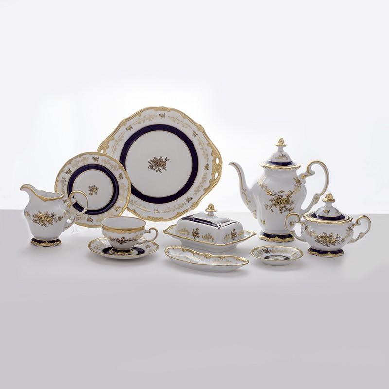 Сервиз чайный 210 мл. 17 см. на 12 перс. 54 пред. «Анна Амалия» (Weimar Porzellan)